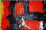 Unknown Red Abstract painting