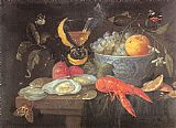 Unknown Still Life with Fruit and Shellfish painting