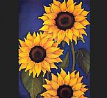 Unknown Sunflowers by Will Rafuse painting