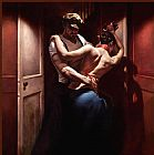 Dancer paintings - Tango Rouge by Hamish Blakely by Unknown