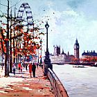 Unknown Thames View painting