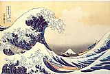 Oriental paintings - The Great Wave at Kanagawa by Katsushika Hokusai by Unknown
