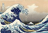 Oriental paintings - The Great Wave of Kanagawa by Katsushika Hokusai by Unknown