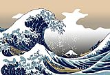 Oriental paintings - The Great Wave off Kanagawa by Katsushika Hokusai by Unknown