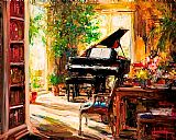 Piano paintings - The Study by Unknown