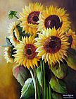 Floral paintings - The SunFlowers by Unknown