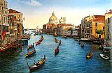 Venice paintings - Venice Grand Canal by Unknown