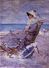Unknown Woman on the Sea Shore painting
