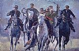 Horse Racing paintings - buzkashi.jpg by Unknown