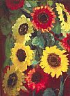 Unknown emil nolde Sunflowers painting