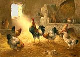 Unknown henhouse painting