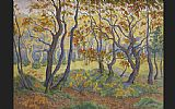 fir forest Framed Prints - paul ranson Edge of the Forest