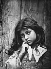 Unknown portrait of a small sicilian girl of common class painting