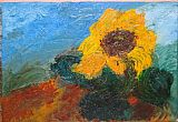 Unknown sunflower I painting