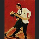 Unknown tango dancers painting