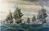 Unknown the Battle of the Virginia Capes painting
