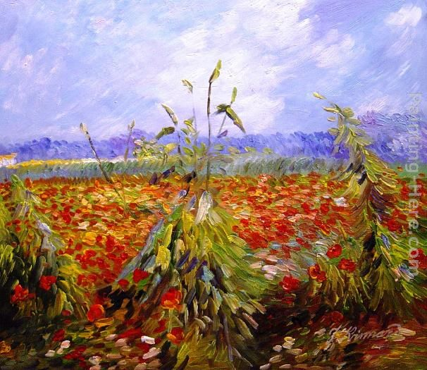 Vincent van Gogh A Field With Poppies