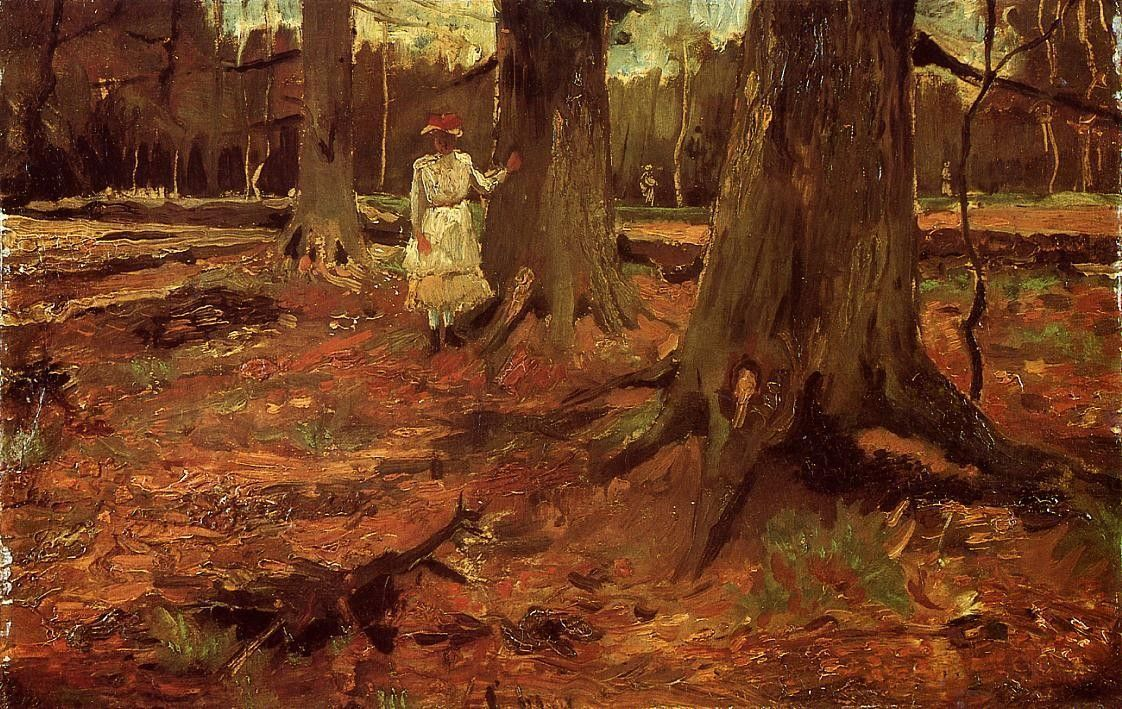 Vincent van Gogh A Girl in White in the Woods