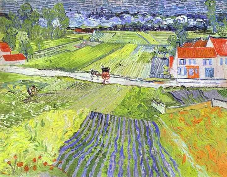 Vincent van Gogh A Road in Auvers after the Rain