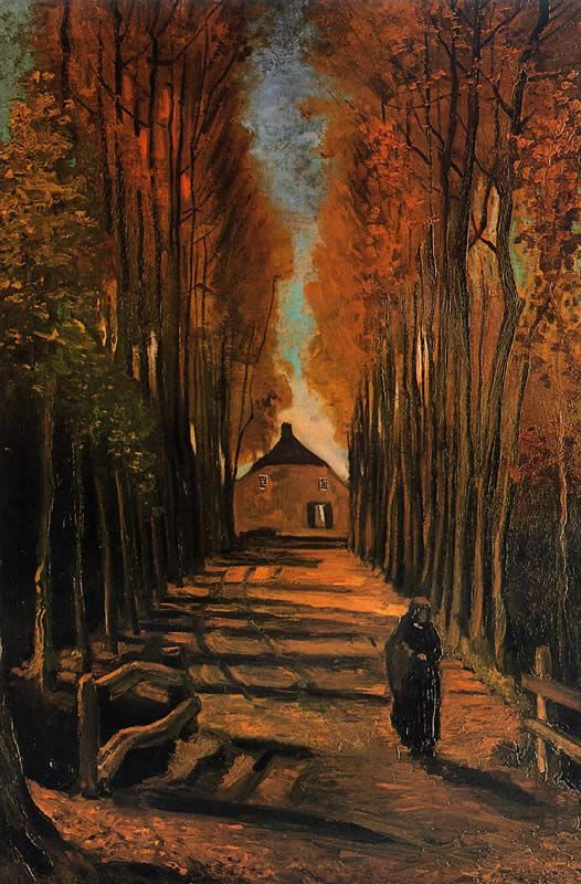 Vincent van Gogh Avenue of Poplars in Autumn