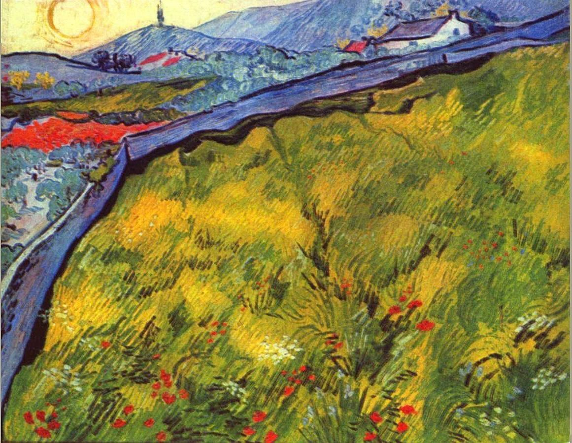 Vincent van Gogh Field of Spring Wheat at Sunrise