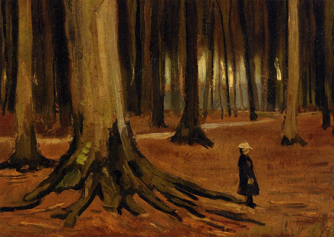Vincent van Gogh Girl in the Woods