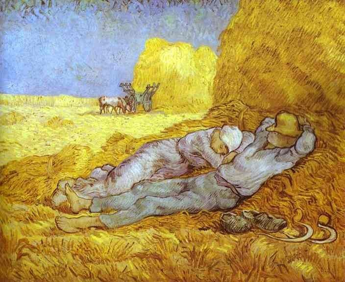 Vincent van Gogh Noon Rest After Millet