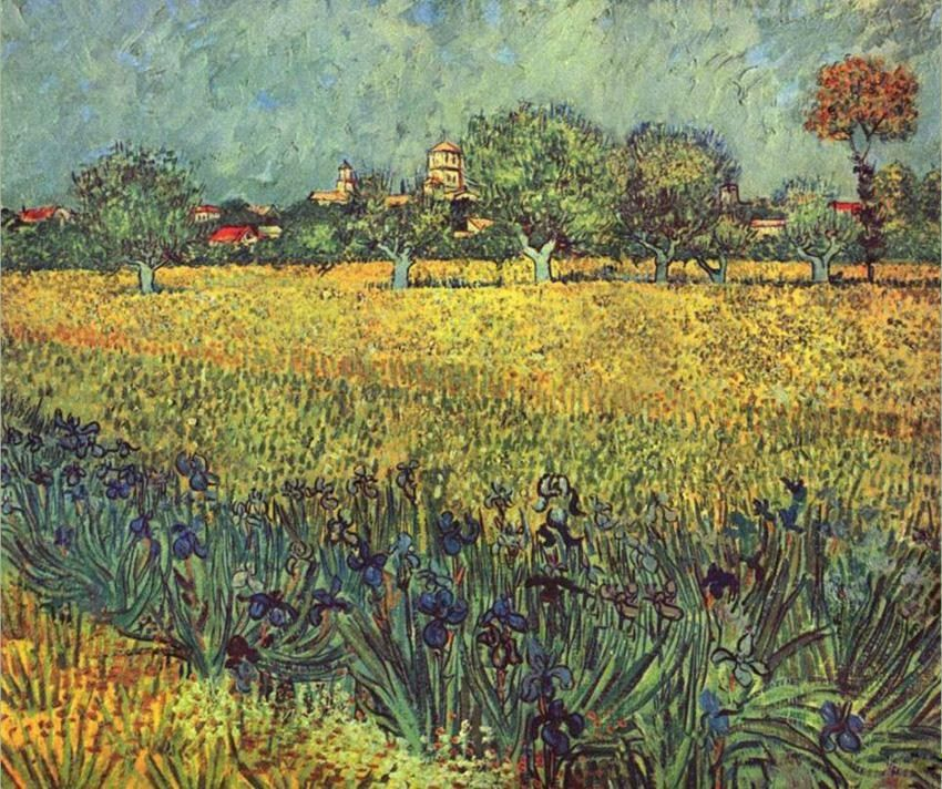 Vincent van Gogh View of Arles with Irises I