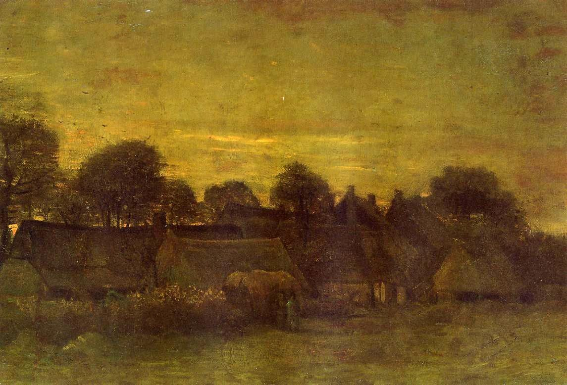 Vincent van Gogh Village at Sunset