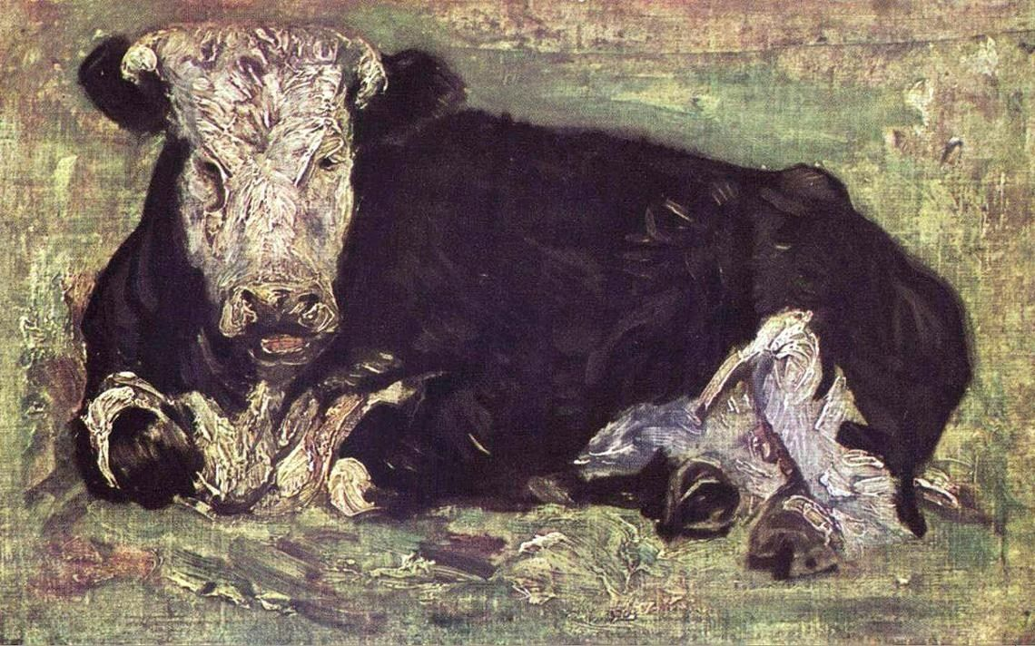 Vincent van Gogh lying cow