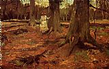 Vincent van Gogh A Girl in White in the Woods painting