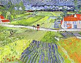 Vincent van Gogh A Road in Auvers after the Rain painting