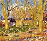 Vincent van Gogh Avenue of Plane Trees near Arles Station painting