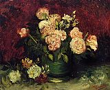 Vincent van Gogh Bowl with Peonies and Roses painting