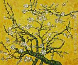 Vincent van Gogh Branches of an Almond Tree in Blossom yellow painting