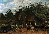 Vincent van Gogh Cottage and Woman with Goat painting