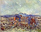 Vincent van Gogh Farmers at work painting