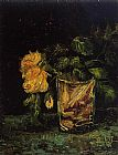 Vincent van Gogh Glass with Roses painting