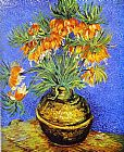 Vincent van Gogh Imperial Crown Fritillaria in a Copper Vase painting
