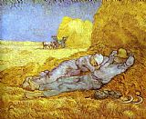 Vincent van Gogh Noon Rest After Millet painting