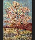 pear tree Paintings - Peach Tree in Bloom
