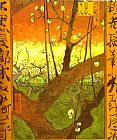 pear tree Paintings - Plum tree in Bloom  after Hiroshige