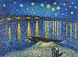 starry night over the rhone Paintings - Starry Night Over the Rhone 2