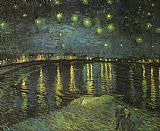starry night over the rhone Paintings - Starry Night over the Rhone I