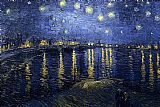 starry night over the rhone Paintings - Starry Night over the Rhone