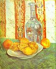 Vincent van Gogh Still Life with Bottle and Lemons on a Plate painting