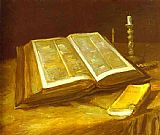 Vincent van Gogh Still Life with Open Bible painting