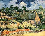 Vincent van Gogh Thatched Cottages at Cordeville painting
