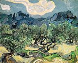 pear tree Paintings - The Olive Trees