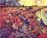 Vincent van Gogh The Red Vineyard painting